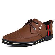 Men's Sneakers Spring / Fall Comfort Cowhide Casual Flat Heel  Black / Brown / Yellow Walking