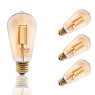 3.5 E26/E27 Izzószálas LED lámpák ST19 4 COB 300 lm Borostyánsárga Állítható / Dekoratív AC 110-130 V 4 db.