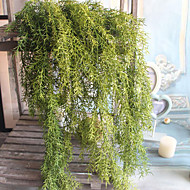 1 Gren Polyester Plastikk Planter Andre Veggblomst Kunstige blomster 65(25.59'')