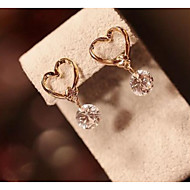 Women's Gold Bowknot Zircon Drpp Earrings