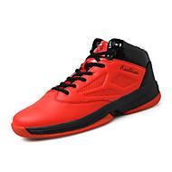 Muškarci Sneakers Jesen Cipele Mary Jane Koža životinjskog podrijetla Aktivnosti u prirodi Ravna potpetica Vezanje Crna Crvena Bijela