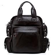 Men Cowhide Casual Backpack
