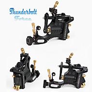 עיצוב ראש כסף מכונת קעקוע מנוע שוויצרי / כוח ברק שחור מכונת קעקוע רוטרי