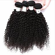 Υφάνσεις ανθρώπινα μαλλιών Βραζιλιάνικη Kinky Curly 4 Κομμάτια υφαίνει τα μαλλιά