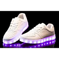 נשים / גברים-נעלי ספורט-PU-נוחות-שחור / לבן-קז'ואל-עקב שטוח