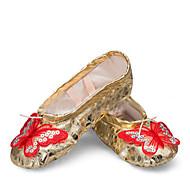 Na míru-Dámské-Taneční boty-Balet / Taneční tenisky-Koženka-Rovná podrážka-Růžová / Červená / Stříbrná / Zlatá