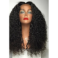 najwyższej jakości o wysokiej gęstości 180% naturalna czarna peruka włosy syntetyczne odporne ciepła woda peruki kręcone peruki koronki