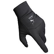 Cyklistické rukavice / lyžařské rukavice / Dotykové rukavice Zimní rukavice Vše Zahřívací Lyže Černá Plátno Zdarma Velikost