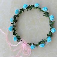 Mulheres Resina Capacete-Casamento Grinaldas 1 Peça Roxo / Azul / Rosa / Vermelho / Branco