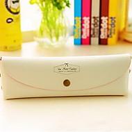 kore moda basit sevimli pvc macaron şeker renkli kalem kutusu kutusu tarafından paketlenmiş