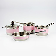 Pink Mini 4-piece Milkpan for Baby or Children/Cookware set of Stainless Steel/12 in diam