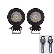 2X 10W flood LED Light Bar ATV SUV Truck Treedozer lamp with A pair Mounting Brackets 1Inch