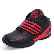 גברים-נעלי אתלטיקה-עור-נוחות / מגפונים / סגור-כחול / אדום-שטח / קז'ואל / ספורט-עקב שטוח