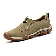 Men's Loafers & Slip-Ons Fall Winter Comfort Pigskin Outdoor Casual Flat Heel Lace-up Dark Blue Khaki