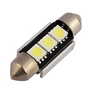 10pcs Canbus 3SMD 5050 36MM License Plate Lights Festoon For Car Interior Led Car Bulb Dome light(DC12V)