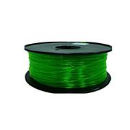 ανθεκτικό στη διάβρωση PETG διαφανή 3d 3d αναλώσιμα εκτύπωσης αναλώσιμα εκτυπωτών πράσινο