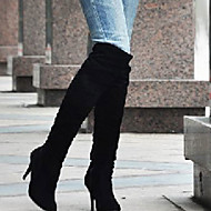 Boty-Koženka-Podpatky / Módní boty-Dámské-Černá / Modrá / Hnědá / Bílá / Šedá-Outdoor / Kancelář / Běžné-Vysoký