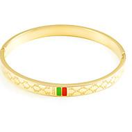 Armbänder/Armreife Titanstahl Ovale Form Modisch Hochzeit / Party / Alltag / Normal Schmuck Geschenk Goldfarben / Rosé,1 Stück