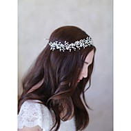 Women's Pearl / Basketwork Headpiece-Wedding / Special Occasion / Casual Headbands / Hair Tool 1 Piece Ivory Oval(F123)