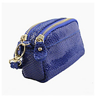 Damen Geldbörse Kuhfell Normal Blau