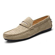 Men's Loafers & Slip-Ons Spring / Fall Moccasin / Flats Fabric Casual Flat Heel Others Black