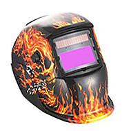 zamračenje zavarivanje Zaštitna maska / zavarivanje zaštitnu masku (prodaje kostur plamen, solarno, litij baterija-powered)