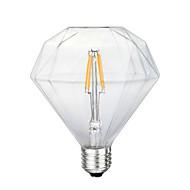 4 E26/E27 Lâmpadas de Filamento de LED G125 4 SMD 5730 800 lm Amarelo Decorativa AC 220-240 V 1 pç