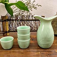 Jingdezhen Ceramic Wine Vessel Crafts Set A Flagon Four Cups