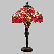 60W lâmpada colorida tabela bonita modelado com Red Leaf-Deusa Pole corpo