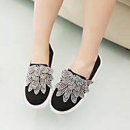 לבנות-נעלי ספורט-קנבס-נוחות-שחור-קז'ואל-עקב שטוח