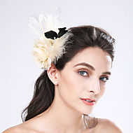 Women's Feather / Fabric / Net Headpiece-Wedding / Special Occasion / Casual Fascinators 1 Piece