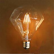 4 E26/E27 LED-hehkulamput G125 4 SMD 5730 800 lm Keltainen Koristeltu AC 220-240 V 1 kpl
