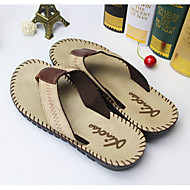 Leatherette Casual Flat Heel Others Brown / White Walking
