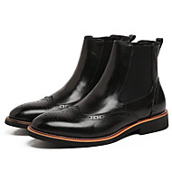 Men's Boots Spring Fall Combat Boots Leather Outdoor Chunky Heel Others Black Coffee Others