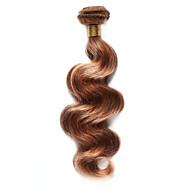 100g / pc body wave cheveux humains 10-18inch blonde auburn crème glacée couleur cheveux humains tissés