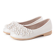 Flats Spring Fall Ballerina Light Up Shoes PU Casual Flat Heel Flower Black Pink Red White Other