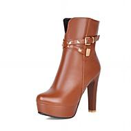 Dame-Syntetisk Lakklær Kunstlær-Tykk hæl Platå-Platå Cowboystøvler Snøstøvler Ridestøvler Motestøvler-Høye hæler-Bryllup Kontor og arbeid