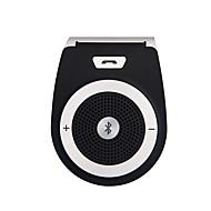 auto draadloze bluetooth handsfree carkit speakerphone zonneklep clip 10m afstand voor de iPhone met een auto-oplader