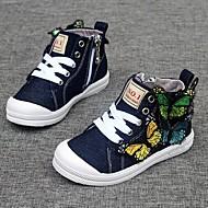 Girl's Sneakers Fall / Winter Comfort Canvas Casual Flat Heel Applique Blue Walking