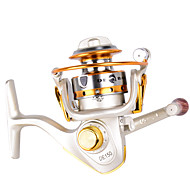 Mini Metal Fishing Spinning Reel ,10 Ball Bearing Gear Ratio 5.2:1 Interchangeable Handle