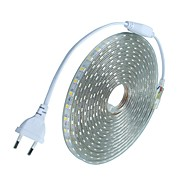 10m / 1pcs 220v 5050 leidde flexibele tape rope strip licht xmas buiten waterdicht tuin outdoor lightingeu stekker eu