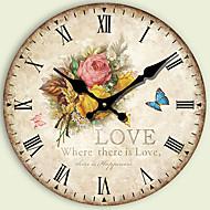 Moderne/Contemporain Autres Horloge murale,Rond Autres 34*34*3cm Intérieur Horloge