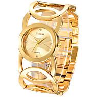 לנשים שעון צמיד קווארץ / מתכת אל חלד להקה צמיד אלגנטי כסף זהב זהב שחור כסף