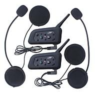 2 stuks multi-bt intercominstallatie 1200m motorhelm intercom Intercomunicador moto interfones headset voor 6 rider