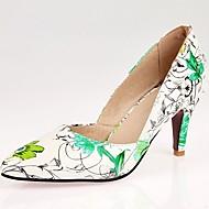 Kényelmes Újdonság-Stiletto-Női cipő-Magassarkúak-Esküvői Irodai Ruha Alkalmi Party és Estélyi-Szintetikus Lakkbőr Bőrutánzat-Kék Zöld