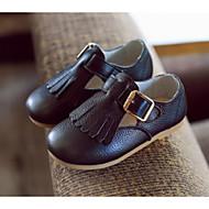 בנות שטוחות נוחות נעליים זוהרות עור אביב סתיו קזו'אל הליכה פרנזים עקב שטוח לבן שחור צהוב ורוד שטוח