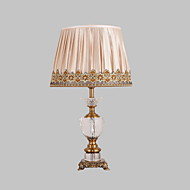 Single Head Comtemporary Style Electroplated Zink Crystal Table Lamp for the Bedroom / Study Room Dest Light