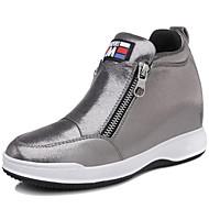 נשים-נעלי ספורט-סינטתי-נוחות-שחור / כסוף-קז'ואל / ספורט-פלטפורמה