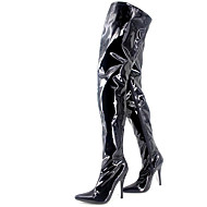 Women's Boots Spring / Fall / Winter Heels Patent Leather Wedding / Party & Evening Stiletto Heel Black/Red/Silver
