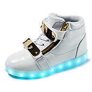 Led's Shoes Boy's Boots Spring / Fall / Winter Fashion Boots Synthetic Outdoor / Casual Flat Heel Buckle Silver / Gold